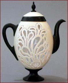 Tea Pot by Larisa Safaryan black and white and gorgeous!