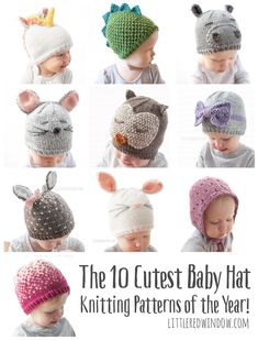 10 Cutest Baby Hat Knitting Patterns of the Year! – Little Red Window 10 Cutest Baby Hat Knitting Patterns of the Year! – Little Red Window,Knit Baby Patterns The 10 Cutest Baby Hat Knitting. Baby Hats Knitting, Knitting For Kids, Loom Knitting, Free Knitting, Knitting Projects, Knitted Baby Hats, Knit For Baby, Baby Knits, Knit Hats