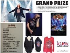YOUR CHANCE TO WIN THE EXACT SHIRT DESIGNS JOE ELLIOTT WEARS IN THE VIVA! HYSTERIA MOVIE AND A SIGNED SET LIST BY JOE FROM THE LAS VEGAS SHOW!