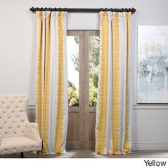 Exclusive Fabrics Flambe Striped Pattern Blackout Curtain Panel Pair