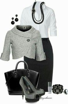 Negro, gris y blanco
