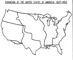 blank map of the us westward expansion jpg 1409 1161 oregon and us