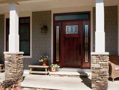 Doorbuy's Madison - Exterior doors offer a wide selection of decorative, energy efficient glass designs. Personalize your door today! Exterior Doors, Entry Doors, Craftsman Style Doors, Glass Collection, Glass Design, Glass Door, Decorative Glass, Patio, Outdoor Decor