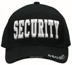 New Deluxe Security Officer Cotton Twill Cap w Raised Embroidered Security Logo | eBay