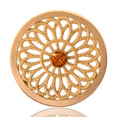 Yellow Gold with Swarovski Crystal