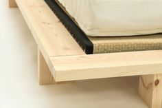 The corner of our lovely Japan #Futon #Bed shows how the Tatami mats can be used - simply dropping into place on the slatted bed base. Now in stock at #Futons247