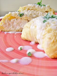 Baking with Blondie : Chicken Pillows with Creamy Parmesan Sauce