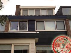 De achtergevel van deze woning is voorzien van kunststof kozijnen van Benitech Kozijnen. Ook is er een dakkapel renovatie verricht.