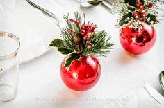 Decoration for the dinner table - christmas, but why not be inspired? Borddekoration til jul - men hvorfor ikke bare blive inspireret til andre årstider?