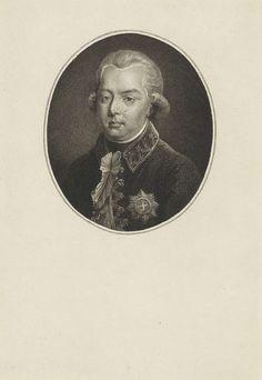 Willem van Senus | Portret van Willem V, prins van Oranje-Nassau, Willem van Senus, Tischbein, 1787 - 1834 | Portret van Willem V in een ovaal.