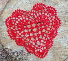 Crochet Applique Patterns Free, Dishcloth Knitting Patterns, Knit Dishcloth, Thread Crochet, Crochet Doilies, Magia Do Crochet, Crochet Angels, Crochet Hearts, Diy Lace Ribbon Flowers
