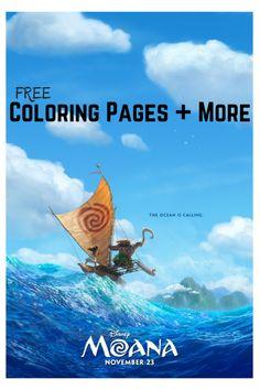 FREE MOANA Coloring