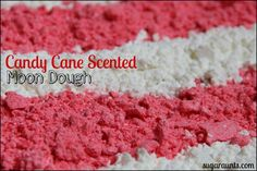 Candy Cane Scented  Moon Dough By Sugar Aunts