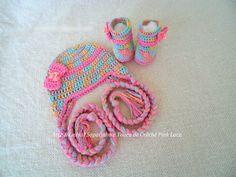 Conjunto de Crochê Pink Lace artelinharj@gmail.com 62 98146.4188