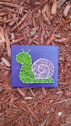 Snail string art by Stressed Out Studios Hey, I found this really awesome Etsy listing at https://www.etsy.com/listing/265312136/mini-garden-snail-string-art-made-to