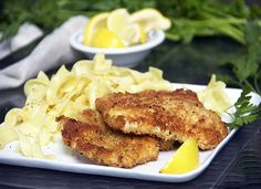 Chicken Schnitzel Recipe from Panning the Globe - simple and sounds yummy for an easy midweek meal.