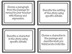 Common Core Guided Reading Task Cards, grades 4-8 (INKSAVER B)