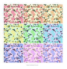 GORGEOUS FLORAL BACKGROUNDS/SAMPLERS
