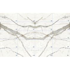 Calacatta Marble Effect Book Matched 120x60cm Thin Porcelain Tiles