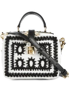 """Achetez Dolce & Gabbana sac porté épaule """"Dolce"""" en Julian Fashion from the world's best independent boutiques at farfetch.com. Over 1500 brands from 300 boutiques in one website."""