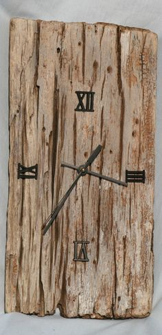 Driftwood clock handmade from wood washed up by JanDickersOceanArt, $60.00