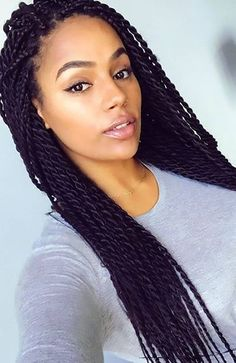 27 Chic Senegalese Twist Hairstyles for Women - The Trend Spotter - 27 Chic Senegalese Twist Hairstyles for Women – The Trend Spotter Purple Senegalese Twist - Box Braids Hairstyles, African Hairstyles, Black Hairstyles, Chic Hairstyles, Wedding Hairstyles, Senegalese Twist Braids, Senegalese Twist Hairstyles, Scene Hair, Curly Hair Styles