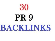 manually create 30 PR9 BACKLINKS dofollow