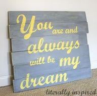 Pallet Art from Literally Inspired (quote from The Notebook)