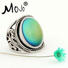 Mojo Dell'annata Della Boemia Retro Anello di Controllo della Temperatura Cambiamento di Colore Mood Ring Emozione Variabile Anello per le Donne MJ-RS019
