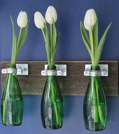 Les tulipes annoncent le printemps!   Les idées de ma maison  #deco #fleurs #tulipe #printemps