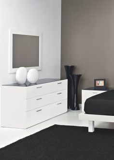 Jersey Is A White Lacquer 6 Drawer Bedroom Dresser With A Glass Top Offering Plenty