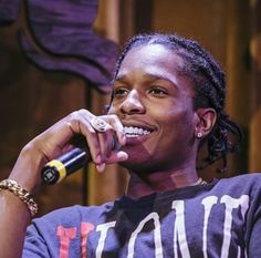 A$AP Rocky. His smile is so beautiful!!!!!