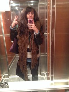 Fake leather leggings Strvs, Jean shirt HM, sweater Zara, scarf PB