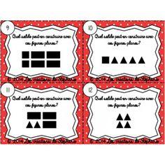 Les cartes à tâches de géométrie Math Figures, Cycle 3, Grade 3, Mathematics, Planes, Education, Patterns, Stains, Geometry