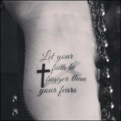 Temporary tattoo religious tattoo faith cross quote tattoo, Tattoo, Religious quote cross temporary tattoos This set includes 2 temporary tattoos These tattoos measure approx. Tattoos Motive, Foot Tattoos, Sexy Tattoos, Small Tattoos, Sleeve Tattoos, Tattoos For Guys, Temporary Tattoos, Tatoos, Music Tattoos
