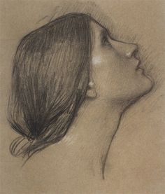 Drawing by John William Waterhouse
