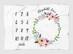 Personalized milestone blanket for baby girl, BEST baby shower gift! Etsy $39.99