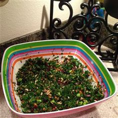Superfoods Kale Salad Allrecipes.com  This used to be sold in the Dominicks markets here in Chicago until recently.