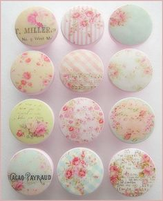 Dresser Knobs - Rose Knobs - Shabby Roses - Drawer Pulls - Shabby - Chic - Vintage Floral