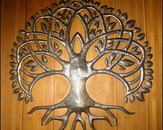 Your Shop - Manage Listings - Etsy Metal Art Decor, Metal Tree Wall Art, Hanging Wall Art, Wall Hangings, Tree Wall Decor, Wall Art Decor, Drums Art, Haitian Art, Steel Drum