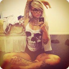 style tattoos [i need that skull shirt] EPIC