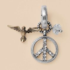 FOSSIL® Jewelry Charms :Women Peace Cluster Charm JA3737