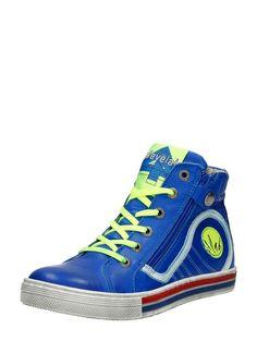Blue shoes with cool lime accents. | Stoere blauwe jongensschoen met groene accenten van Develab. #boyshoes