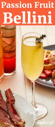 This cocktail uses flavorful passion fruit purée to brighten the morning and give an acidic balance to all of brunch's rich delights.