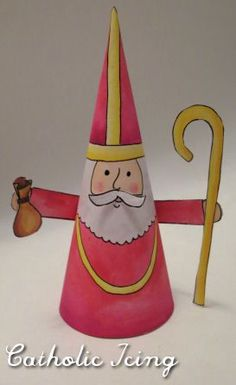 Check out my post on how to celebrate St. Nicholas day here. Nicholas Day is coming up on December These crafts can be a fun way to celebrate the day. Nicholas can even leave the supplies f Catholic Crafts, Catholic Kids, Christmas Wood, Christmas Crafts, Primitive Christmas, Retro Christmas, Country Christmas, Christmas Christmas, Catholic Icing