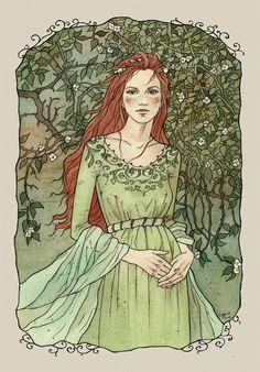 'The Feral Lady' -(K)  ;Peaceful time by liga-marta.deviantart.com on @deviantART