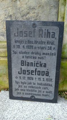 Grave Site of Eliška Kovářová (Říhová) (1905-1937) | BillionGraves