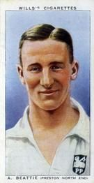 1939-40 W.D. & H.O. Wills Association Footballers #6 Andrew Beattie Front