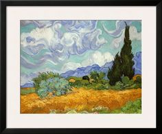 Wheatfield with Cypresses, c.1889 Art by Vincent van Gogh at AllPosters.com