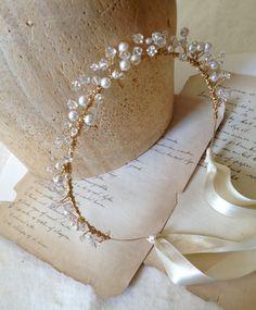 Bridal Crown Wedding Head Piece Crystal Circlet by LoveAnabelle